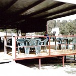 Completed grandstand in 2000